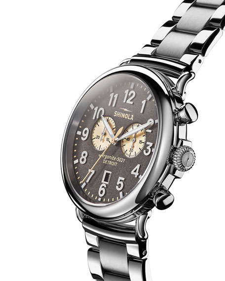 Shinola Men's 47mm Runwell Chronograph Bracelet Watch