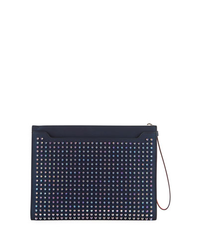 Men's Skypouch Spiked Leather Bag