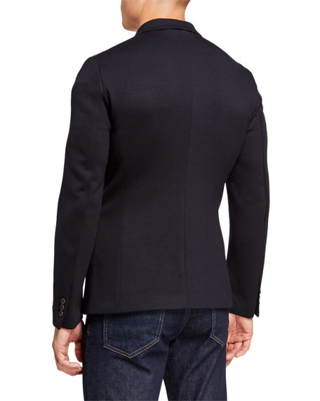 Emporio Armani Men's Soft Double-Jersey Travel Jacket