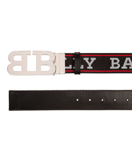 Bally Men's Mirror Double-B Reversible Belt