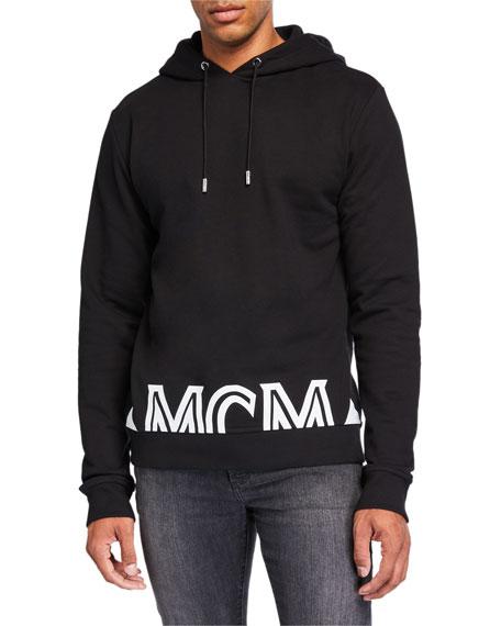MCM Men's Milano Logo-Typographic Hoodie