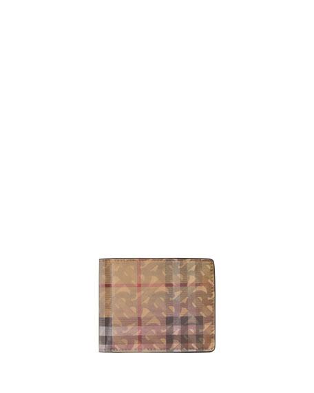Burberry Men's Hologram Logo Vintage Check Hipfold Wallet