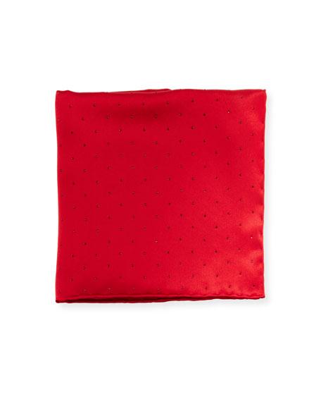 Stefano Ricci Crystal-Embellished Pocket Square