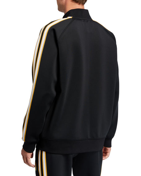 Image 4 of 4: Neiman Marcus - Produced by Staple Men's Jacquard Stripe Track Jacket