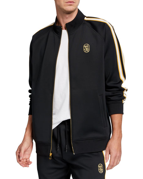Image 1 of 4: Neiman Marcus - Produced by Staple Men's Jacquard Stripe Track Jacket
