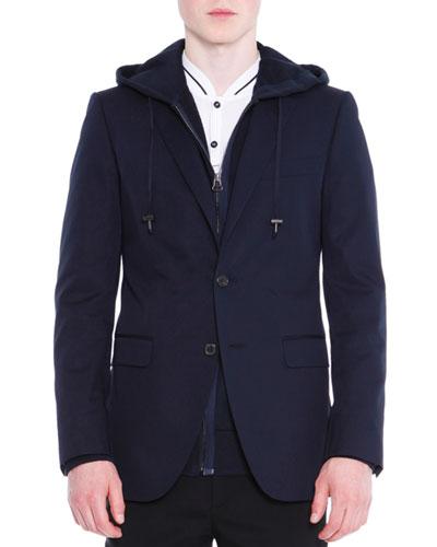 Attitude Two-Button Soft Jacket  Navy
