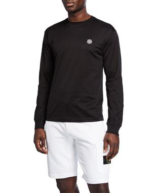 eb980a4138 Stone Island Men's Logo-Patch Long-Sleeve T-Shirt