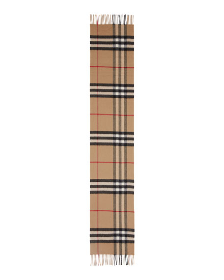 Burberry Men's Giant Check Cashmere Scarf