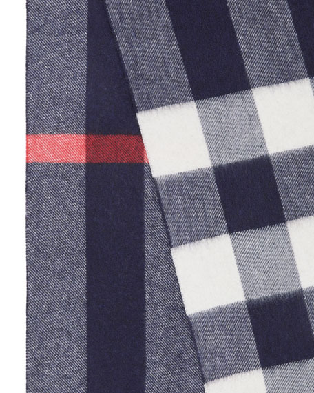 Burberry Men's Half Mega Check Cashmere Scarf