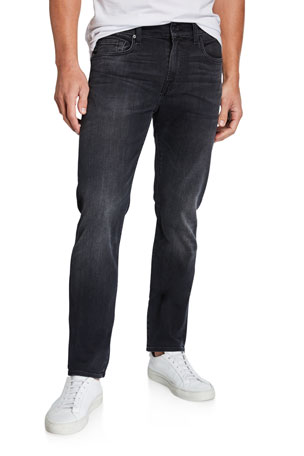 7 For All Mankind Men's Slimmy Dark-Wash Jeans