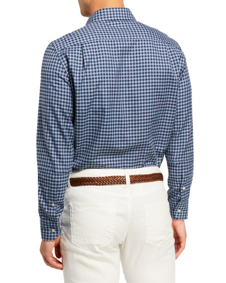 Loro Piana Men's Alfred Check Poplin Sport Shirt