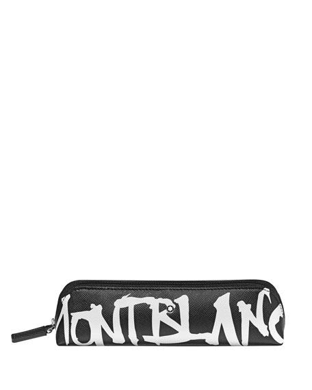Montblanc Men's Saffiano Leather Graffiti Logo Pen Pouch