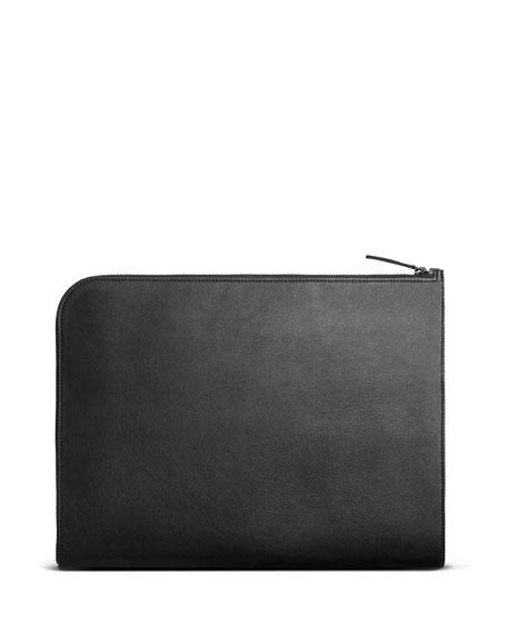 Shinola Men's Guardian Smooth Grain Leather Laptop Portfolio Case