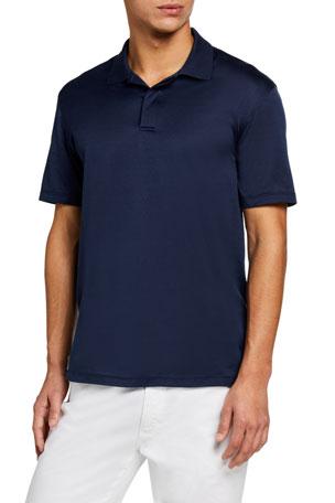 Ermenegildo Zegna Men's Melange Regular-Fit Polo Shirt