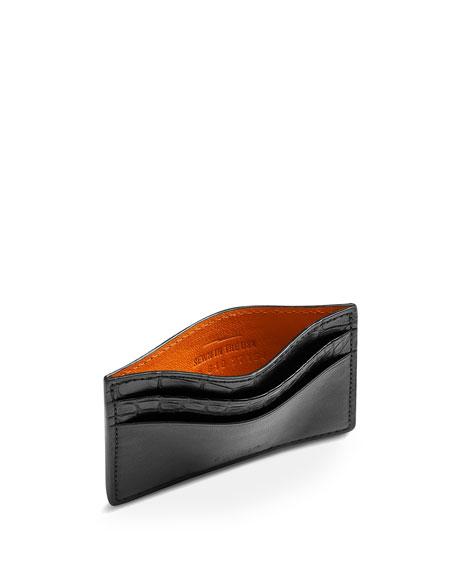 Shinola Men's Alligator Card Case/Key Fob Box Set