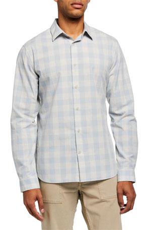 Vince Men's Buffalo Check Sport Shirt