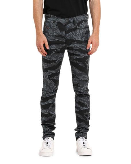 Diesel Men's D-Amny Skinny Patterned Jeans