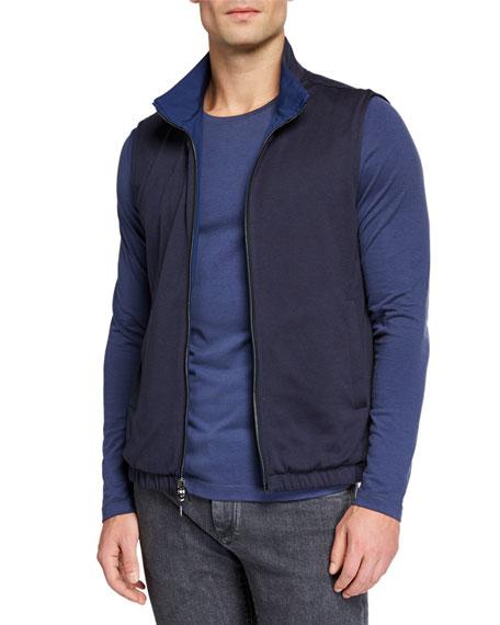 Loro Piana Men's Windmate Reversible Zip-Front Vest