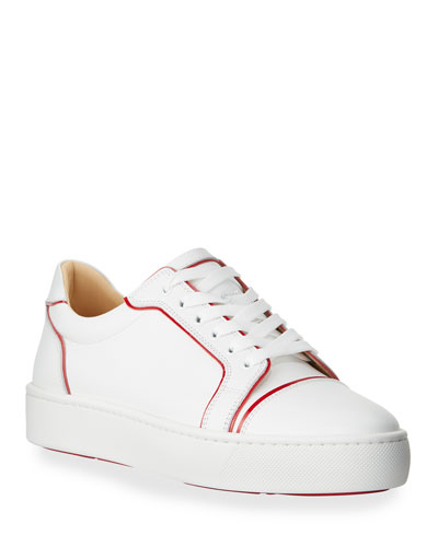 Men's Seavastissmo Low-Top Leather Red Sole Sneakers