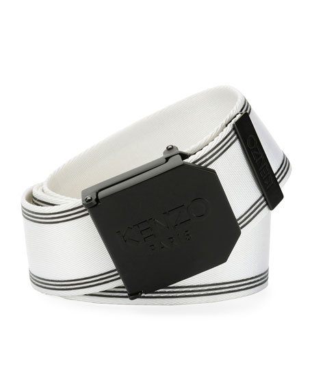 Kenzo Belt Men's Logo Plaque Sport Belt