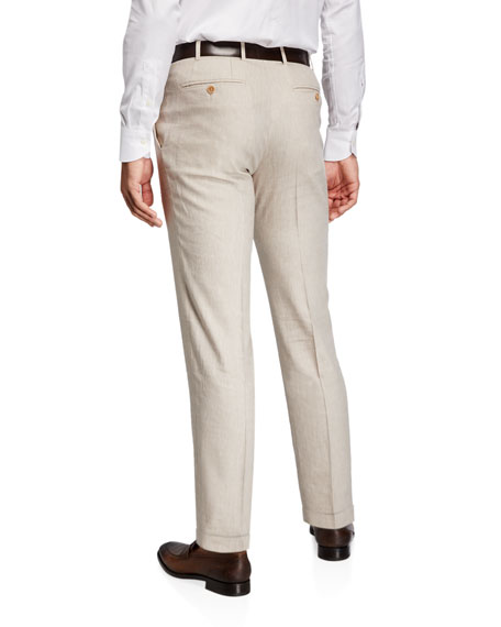 Image 2 of 3: Canali Men's Linen-Wool Pants
