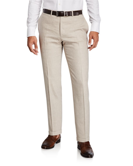Image 1 of 3: Canali Men's Linen-Wool Pants