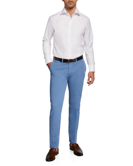 Image 3 of 3: Canali Men's Stretch-Twill Straight-Leg Pants