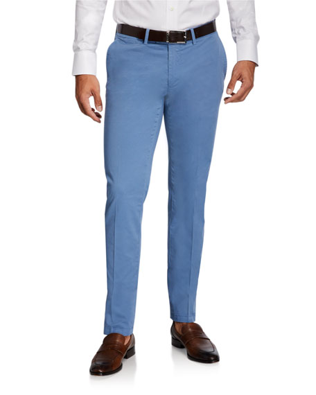 Image 1 of 3: Canali Men's Stretch-Twill Straight-Leg Pants
