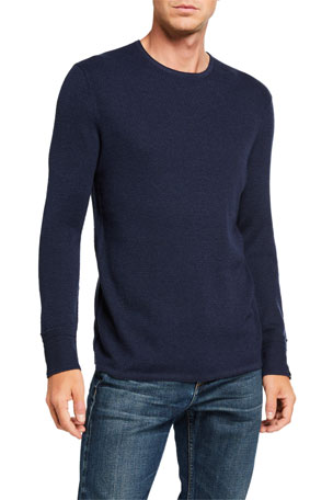 Rag & Bone Men's Davis Solid Wool-Linen Sweater