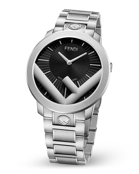 Fendi Men's 41mm Run Away F is Fendi Logo Bracelet Watch