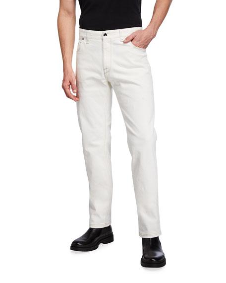 Fendi Men's FF Embroidered Slim-Fit Jeans