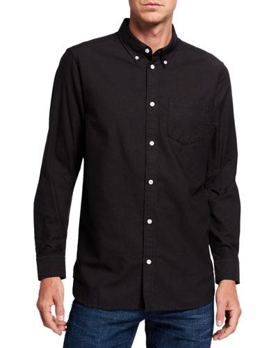 Men's Oden Solid Contrast-Button Sport Shirt