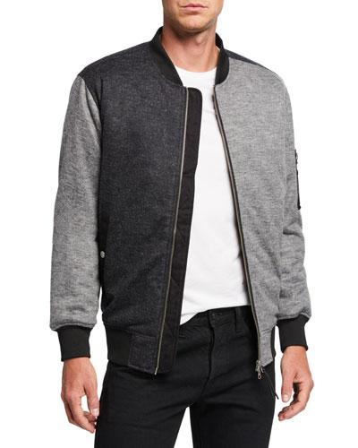 Men's Colorblocked Flannel Jacket