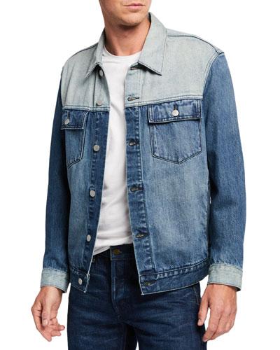 Men's Colorblocked Jean Jacket