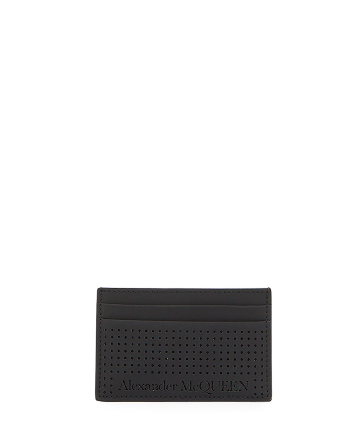 Alexander McQueen Men's Perforated Leather Card Case