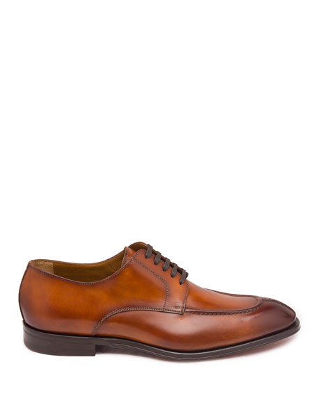 Bruno Magli Men's Livio Burnished Leather Lace-Up Shoes