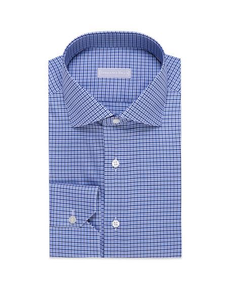 Stefano Ricci Men's Plaid Cotton Dress Shirt
