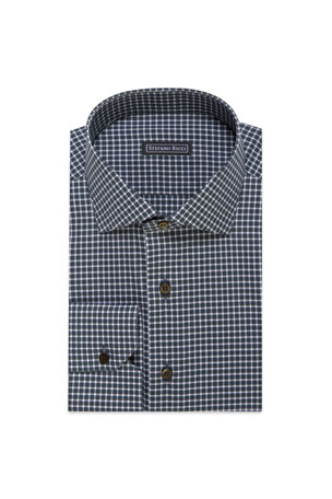 Stefano Ricci Men's Plaid Cotton Dress Shirt