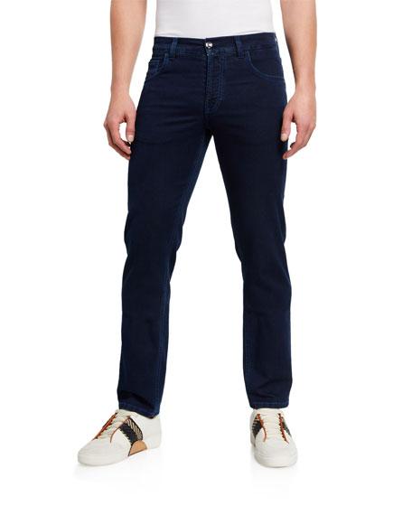 Stefano Ricci Men's Dark-Wash Stretch-Denim Jeans
