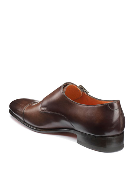 Santoni Men's Innocent Double-Monk Loafers