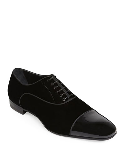 Men's Hades II Cap-Toe Patent Leather Shoes