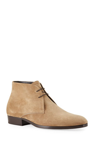 Saint Laurent Men's Wyatt Suede Chukka Boots
