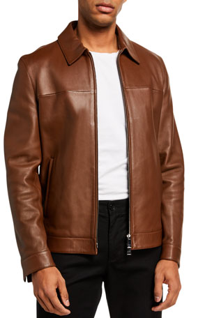 Theory Men's Roscoe Plover Leather Jacket