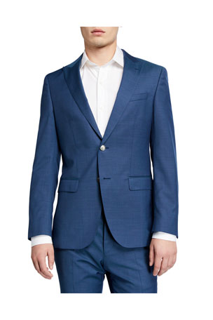 BOSS Men's Slim-Fit Micro-Pattern Two-Piece Suit