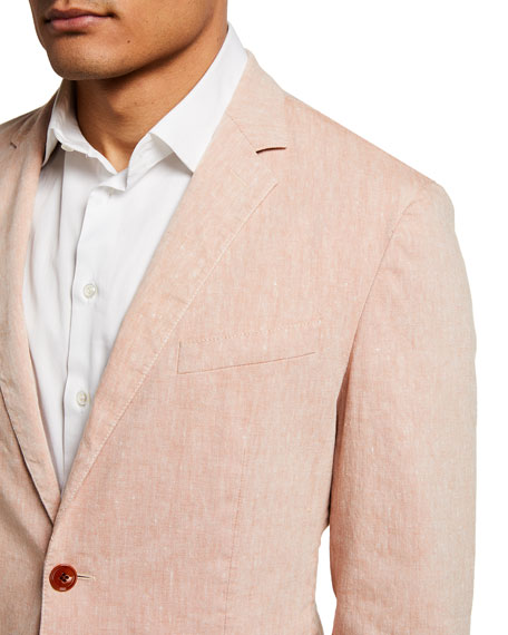 Image 4 of 4: BOSS Men's Hanry Linen-Blend Suit Jacket