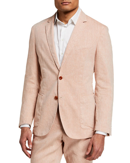 Image 1 of 4: BOSS Men's Hanry Linen-Blend Suit Jacket
