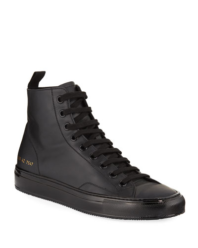 Men's Tournament High-Top Leather Sneakers