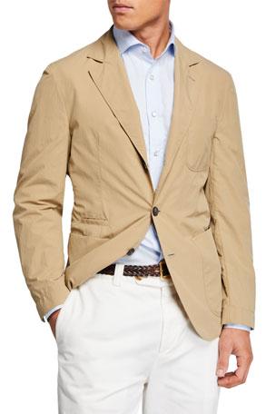 Brunello Cucinelli Men's Technical Weave Three-Button Jacket