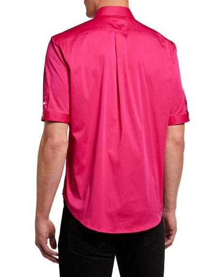 Alexander McQueen Men's Short-Sleeve Slim-Fit Sport Shirt