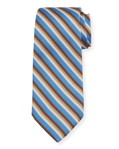 Isaia Men's Striped Cotton/Silk Sport Shirt